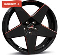 Диски Borbet A Black Red Glossy