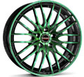 Диски Borbet CW4 Black Green Glossy