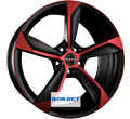 Диски Borbet S Black Red Matt